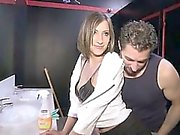 Wendy a nice brunette anal fucked into a swingers club