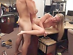 TIght blonde ho sells her car and fucked by horny pawnkeeper