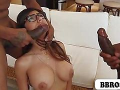 Mia Khalifa First Monster Cock Threesome