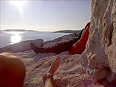 Wanking публично ( limanakia нудистский пляж )