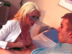 Big racked lady doctor Summer Brielle takes guy s nice love bone