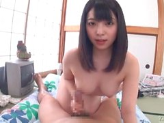Subtitled POV Japanese Ai Uehara blowjob followed by cowgirl