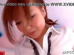 Asian schoolgirl showing her pissing pussy up