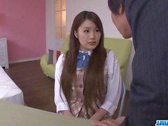 Runa Ayase schoolgirl in heats enjoys teacher?