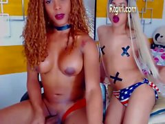 transexual latino negro con enorme polla masturbándose en la webcam