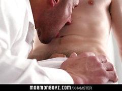 MormonBoyz - Muscle daddy barebacks horny boy on altar