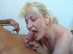 Mature czech blonde in amateur POV