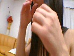ragazza brasiliana sessione di a forbice on girl
