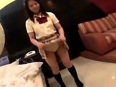 Horny girl masturbates in voyeur porn film