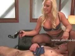 Blonde milf mistress using her experience and amazing hot body in