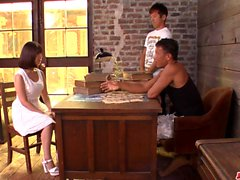Wakaba Onoue fucked by two men - More at japanesemamas