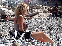 ongelooflijke Franse meisje topless Franse riviera