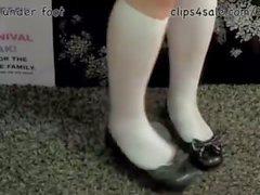 Slime unter dem Fuß