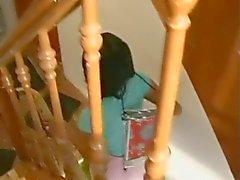 Wassen , scheren en neuken een jong Koreaans meisje