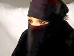Musta Burqa Arabian muslimi tyttö Nadia imee Big Länsi-Euroopan republikaanien Ranskan Penis