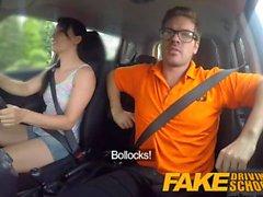 Fake Driving School Unordentlich creampie climax für sexy Betrug Lernenden