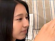 Lovely Japanese teen Mayu shows her bj skills and eats spunk