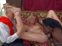 Nasty MILF Camryn Cross takes black dick in cuckold action