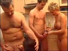 Old and young couple party.mp4
