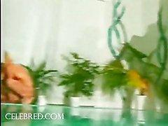 Tres encendí Parejas Tira Desnudos Joder a cabo por la la piscina
