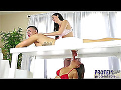 Hawt Selma Sins and Bianca Breeze plays their client biggest dick