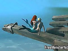 3D Ariel from the Little Mermaid gets fucked hard