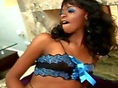 Horny Ebony Babe Get Hard Toying...