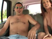 Kinky couple gets down and dirty in the back of a van