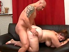 BBW couch fuck