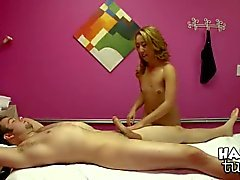 Petite Mandi Miami rubs a cock