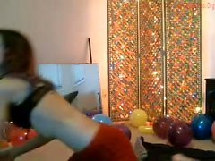 Teen girl in amateur group sex video