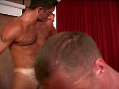 Hairy Homosexuell Muskel ohne Sattel
