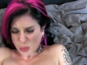 Emo beauty gets tight asshole stretched