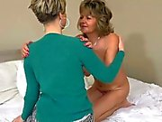 OldNanny sexy mature and her daughter is playing toy