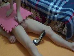Chinesisch femdom footjob handjob shoejob 1