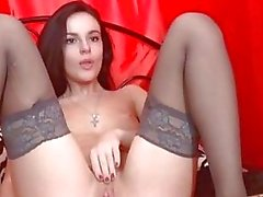 Borracho bonito esfrega Juicy Pink Pussy Lips HD