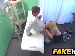 Fake Hospital Fit blonde sucks cock so doctor gives her bigger boobs
