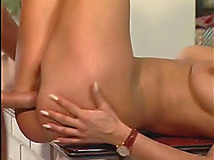 Hungary chick drilled in the kitchen