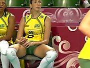 da vicino scatti a grandissima squadra da pallavolo sexy di Brazillian del