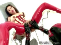 Stunning mistress in latex tortures a gorgeous brunture-Abuse-Of-Tigerr-Benson-3