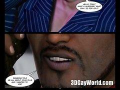 Matto Orgia Orgie di Gay Club 3D Fumetto Anime o di Cartoni animati Anime