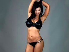 Denise Milani in Latex Bikini - non nude