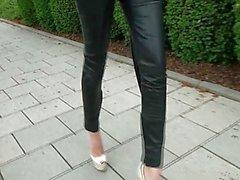 A passi Diva pantaloni di pelle