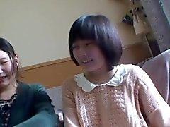 Adolescentes lesbian alimento asian brincaram