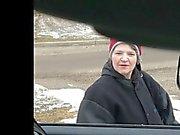 Flash carro de - garota velha não podem deixar de olhar