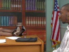 Blandade Etnicitet Office kön i Sara jayen