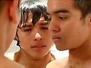 Latin boys in prison shower