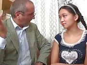 old teacher give a good fuck for cute asian teen