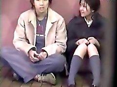 Två Par Göra kärlek Outside