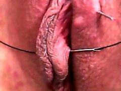 Nette Freundin trägt Nahaufnahme Orgasmus